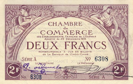 2 francs Type 1919 impression US Pick##FO4