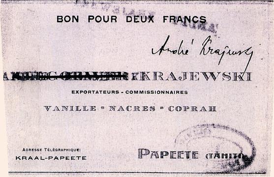 2 francs Type 1919 Banque Krajewski Pick##NL13