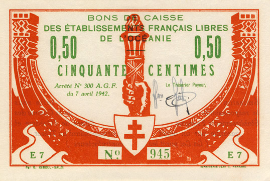 50 centimes Type 1942 France Libre Pick##FO7