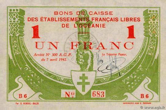 1 franc Type 1942 France Libre Pick##FO8