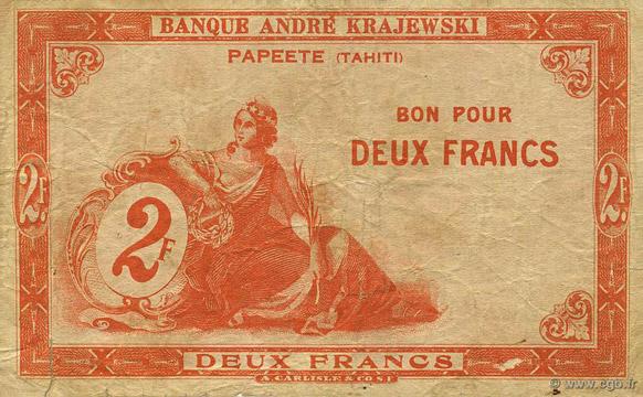 2 francs Type 1920 Banque Krajewski Pick##10