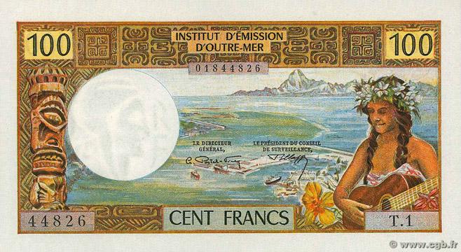 100 francs Polynésie française Type 1969 Pick##23