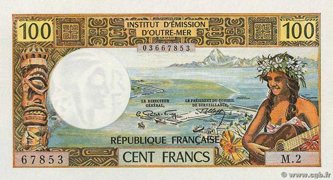100 francs Polynésie française Type 1971 Pick##24