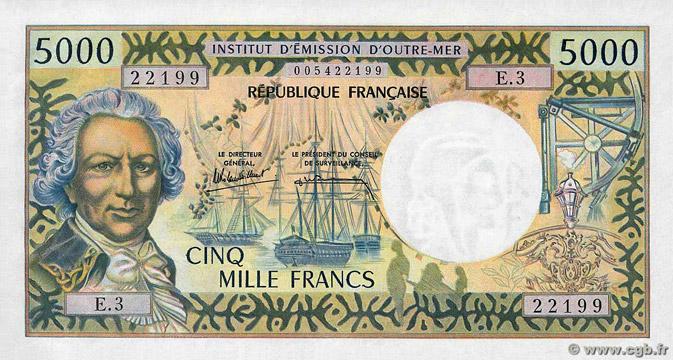 5000 francs Polynésie française Type 1971 Pick##28