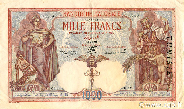 1000 francs Type 1926  Pick##11