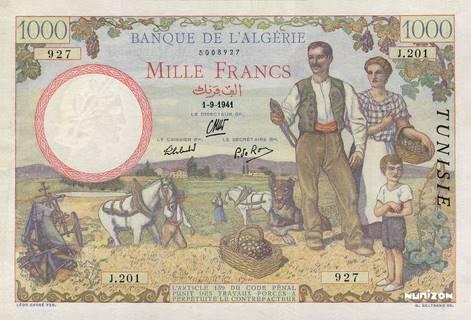 1000 francs Famille de cultivateurs Type 1940 Pick##20
