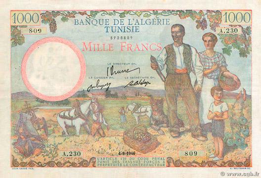 1000 francs Famille de cultivateurs Type 1940 modifié Pick##26