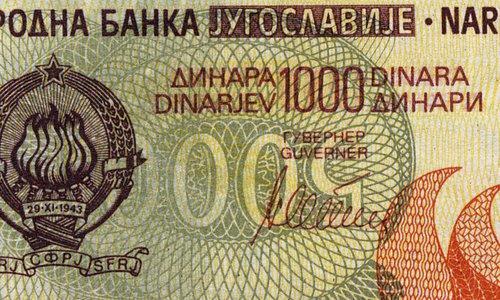 1000 dinara Type 1990!