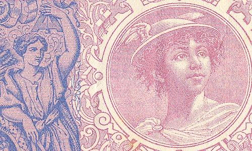 "1000 francs Type 1889 ""Bleu et rose"""
