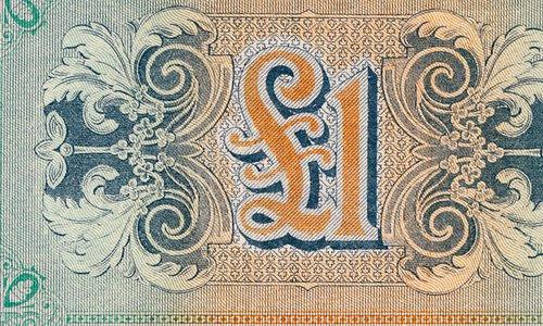 "1 Pound BMA overprinted ""Bulgaria"""