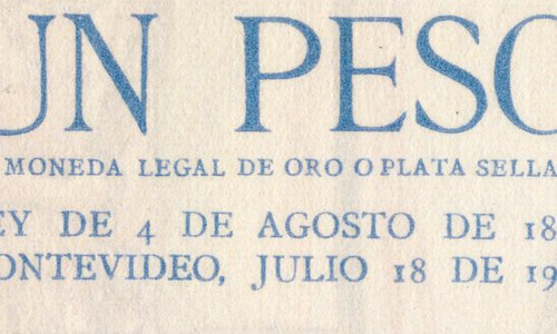 Rare 1 Peso Type 1930 Uruguay banknote on sale!