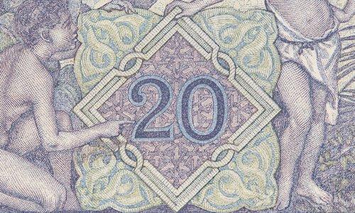 20 francs Tunisia Type 1912