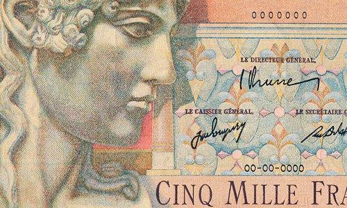 5000 francs Apollon Type 1946