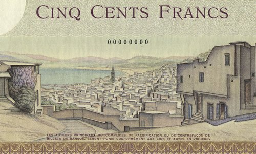 Morocco, the 5000 francs Type 1937