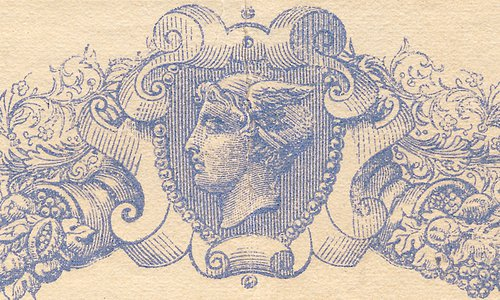 """A new 50 Francs Type 1868 """"Blue with black indices"""""""