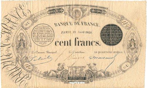 """The 100 francs Type 1848 """"Définitif transposé"""""""