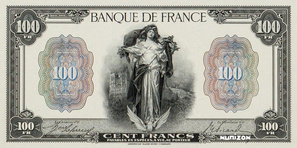 100 francs Type 1918 « La Fortune »