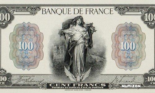 """100 francs Type 1918 """"La Fortune"""""""