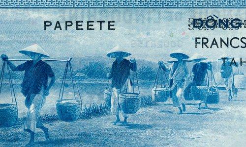 1000 francs sur 100 Piastres Type 1954