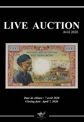 Live Auction avril 2020, cgb.fr