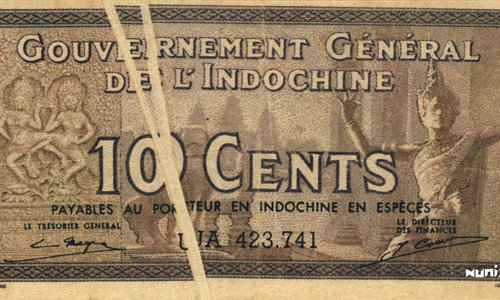 10 Cents French Indochina 1939 Error