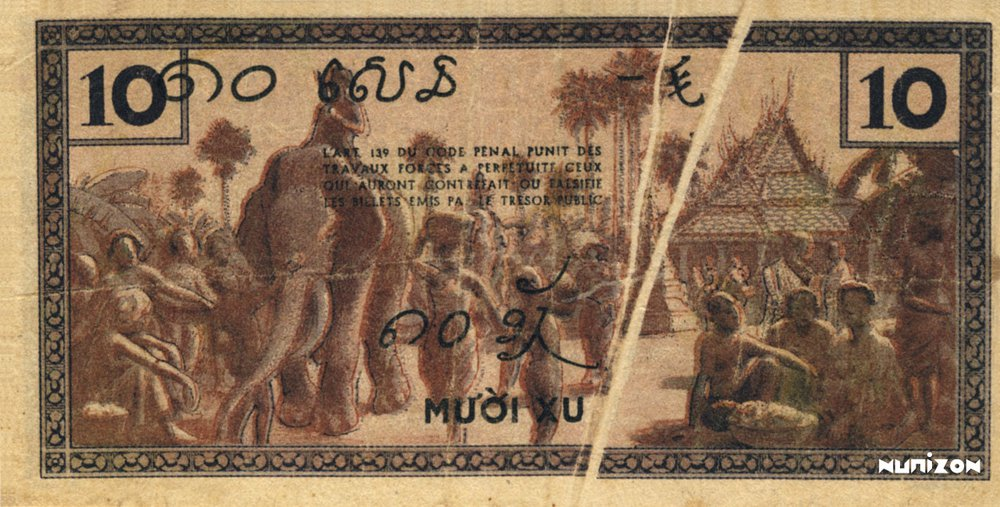 10 Cents Indochine verso