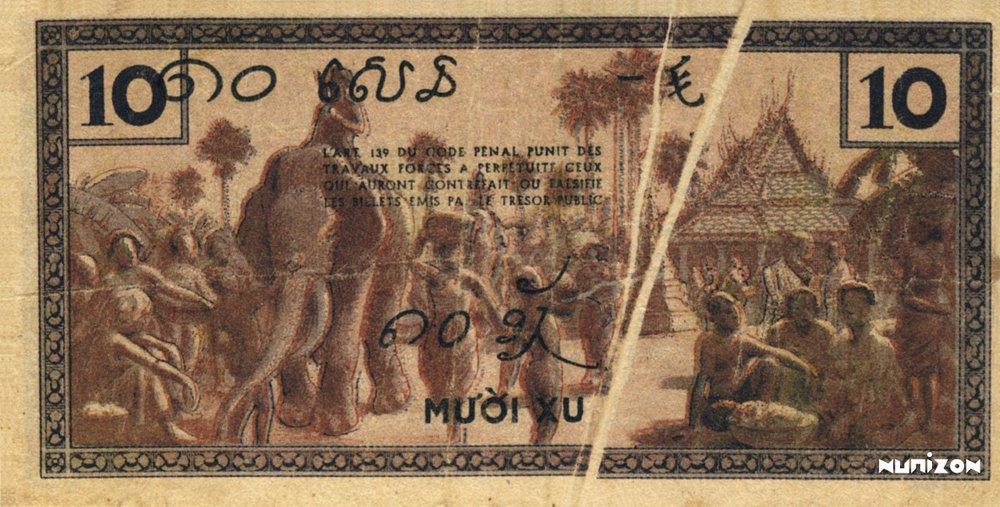 10 Cents Indochine verso