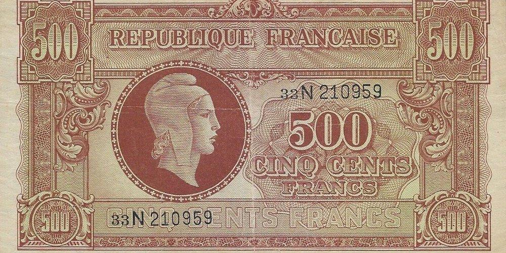 500 francs Marianne Lettre N