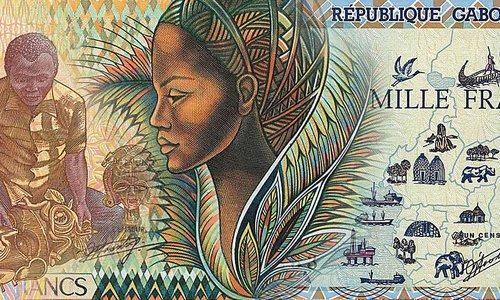 Gabon banknotes